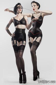 "riwaanerona: "" Therése Rosier and Riwaa Nerona by Sachtikus. Lingerie and waist training corset: Riwaa Nerona """