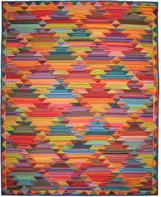 """Haze Kilim from the book, """"Simple Shapes; Spectacular Quilts"""" by Kaffe Fassett and Liza Prior Lucy (from Design Tyme by Allison Quilt Designs)"""