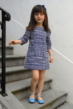Fabric Room: Experimental research Figgys Sunki pattern, Lotta Jansdotter fabric Baby Girl Dress Patterns, Baby Dress Design, Frock Design, Frocks For Girls, Dresses Kids Girl, Kids Outfits, Dress Girl, Little Girl Fashion, Toddler Fashion
