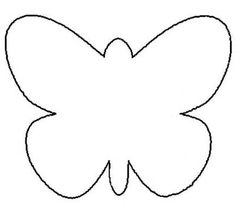 Butterfly Printable Template for wall-butterflies project - use scrapbooking paper, fold wings up and attach to wall.