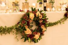 All Décor and Styling provided by Crow Hill Weddings. Fresh Flowers by Roxanne at Lily Blossom. Sophisticated Wedding, Elegant, Fresh Flowers, Crow, Floral Wreath, Wedding Decorations, Lily, Wreaths, Weddings