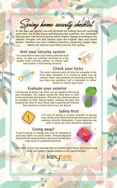 Spring Home Security Checklist | Keytek Locksmiths Blog #spring #security #homesecurity #checklist #infographic