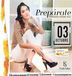 📖 Nueva colección con lo más #In de la #moda en #cuero.  ✨ nuevos calzados #EstelaSokso LUNES 3 de octubre ✨ http://fb.com/kryscaesmoda  ✈  KRYSCA Moda (@kryscamoda) | Twitter