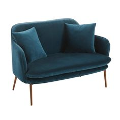 Small Armchair For Bedroom Living Room Seating, Accent Chairs For Living Room, Modern Dining Chairs, Living Room Chairs, Banquette 2 Places, Green Velvet Sofa, Sofas, Comfortable Accent Chairs, Sofa Bench