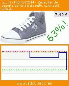 Lico Fly High 180244 - Zapatillas de deporte de lona para niño, color azul, talla 31 (Zapatos). Baja 63%! Precio actual 7,49 €, el precio anterior fue de 20,00 €. https://www.adquisitio.es/lico/fly-high-180244-2