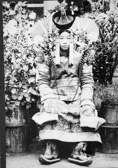 Mongolia 1920s married khalkha Mongolian woman in traditional costume