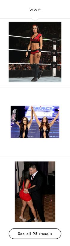 """""""wwe"""" by cheyenne8910 ❤ liked on Polyvore featuring the bella twins, divas, wwe, john cena, tops, wwe tops, jewelry, photos, superstars and accessories"""