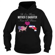 This matching mother and daughter shirt will be a great gift for you or your friend: The Love Between Mother and Daughter - United States Costa Rica Tee Shirts T-Shirts