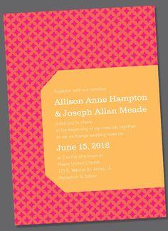 Allison Wedding Invite