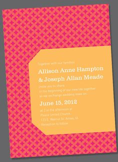 Allison Wedding Invite