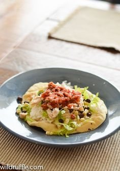 Copycat recipe for Chipotle's carnitas, tomato salsa, corn salsa