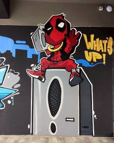 Graffiti, Pull Off, Dream City, Champs, Mumbai, The Unit, India, Wall, Artist