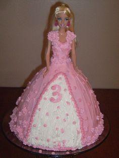 barbie cakes | Wild Card Wednesday:Barbie Birthday Cake