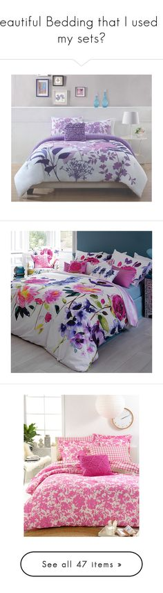 """Beautiful Bedding that I used in my sets"" by addicted2design ❤ liked on Polyvore featuring home, bed & bath, bedding, comforters, twin comforter, king sham, king size comforter sets, lavender comforter, king size pillow shams and duvet covers"