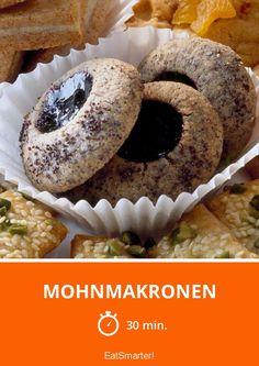 Mohnmakronen - smarter - Zeit: 30 Min. | eatsmarter.de