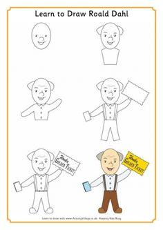 Learn to Draw Roald Dahl