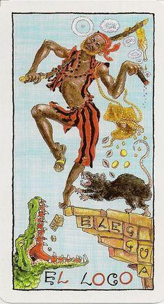 O.  The Fool - Lukumi Tarot by Caelum Rainieri, Ivory Andersen, Raphael Montoliu