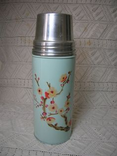 Vintage Thermos Chinese Cherry Blossoms on by CircaMundiVintage