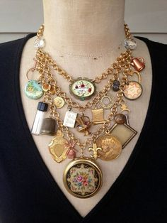 Steampunk Jewelry, Statement  Necklace, Steampunk Necklace, Bib Necklace - storybook