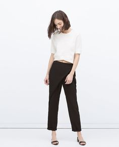 Image 1 of WRAPAROUND FRONT TROUSERS from Zara