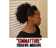 The infamous Kimmaytube, rocking her natural hair fro hawk.