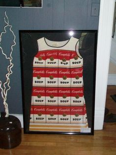 Dream on KTW - 1960s Andy Warhol Campbell Soup Paper Dress by RedRiverAntiques