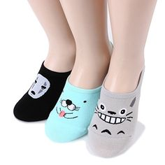 $19.90(6PAIRS) & FREE Shipping NOFACE MONSTERS PINK STARFISH TOTORO & BONOBONO loafer socks 6 Characters Women Funny Invisible Cartoon Socks