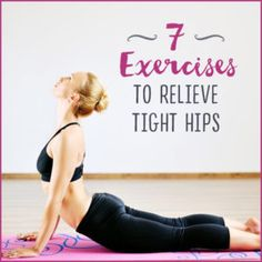 Open tight hips with these 7 exercises--from yoga poses to resistance band moves--that will help you relieve uncomfortable hip pain. Hip Bursitis Exercises, Hip Flexor Pain, Bursitis Hip, Tight Hip Flexors, Hip Pain, Sciatica Stretches, Hip Stretches, Stretching, Sciatica Pain
