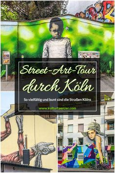 StreetArt walking tour through Cologne-Ehrenfeld - The streets of Cologne's district are so varied and colorful - Beste Reisetipps 2019 Street Art, Street Signs, Cologne, Craft Museum, Oeuvre D'art, Oeuvres, Walking Tour, Favorite Person, Graffiti Art