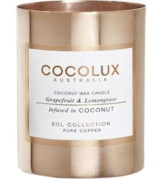 Grapefruit and lemongrass copper candle http://bit.ly/1k65bg3