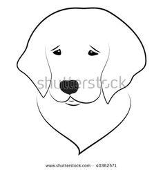 Cute Labrador Golden Retriever Puppy Illustration Toffee