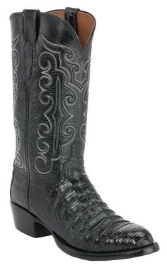 Lucchese 1883 Men's Black Caiman Crocodile Belly Exotic Western Boots this is what I want next Cowboy Gear, Cowgirl Boots, Men's Boots, Western Boots For Men, Western Wear, Western Style, Mens Boots Fashion, Fashion Shoes, Nocona Boots
