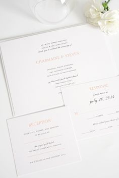 Elegant Peach Wedding Invitations | Shine Wedding Invitations