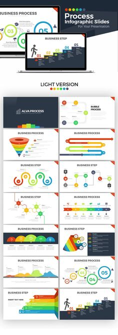 121 best business powerpoint templates images on pinterest in 2018 alva process powerpoint template flashek Images