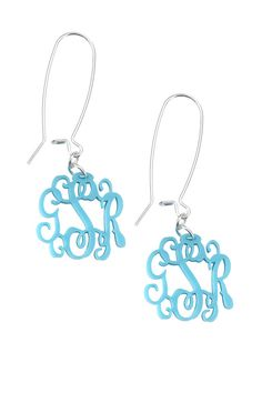 Monogrammed Acrylic Earrings - The Perfect Accessory!