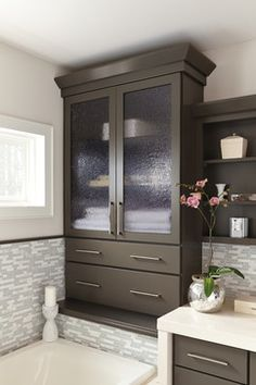 Have The Look Of Stacked Cabinets Without The Seams Between Cabinets. This  Cabinetry Offers Both Typical Wall Cabinet Storage With The Added Benefit  Of ...