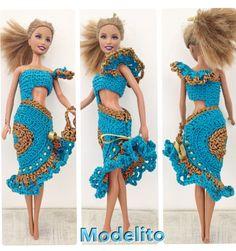 Vestidinho lindo de croche para Barbie