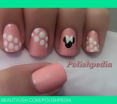 Minnie Mouse Pink NAils