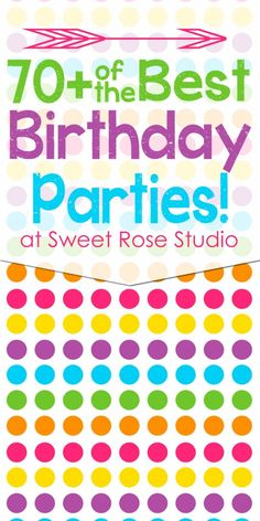 TONS of great birthday party themes in this Birthday Party Round Up!