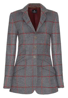 Katherine Hooker Cass jacket grey and red (has red oval elbow patches)