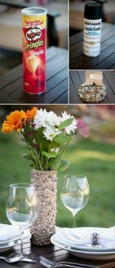 DIY pebble Vase