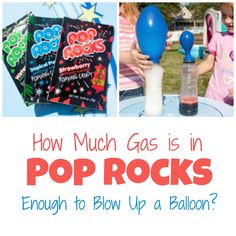 How to See the Gas Contained in Pop Rocks - Life with Moore Babies Science Fair Board, Rock Science, Science Week, Science Boards, Preschool Learning Activities, Preschool Science, Science For Kids, Science Fun, Science Ideas