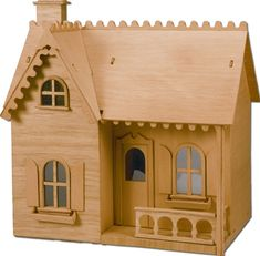 Greenleaf Dollhouses 66 Haunted House Dollhouse, Unfinished Wood - Knobs and Hardware Haunted Dollhouse, Dollhouse Kits, Dollhouse Miniatures, Putz Houses, Village Houses, Bird Houses, Haunted Houses, Cardboard Box Houses, Craft Stick Crafts