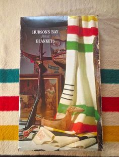 Collectible 4-Point Hudson Bay Wool Blanket in Original Box made in England