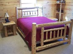 cedar bed frame plans | How to Build Log Beds (and tools to do so)