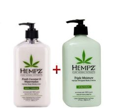 Hempz Whipped Body Creme - Triple Moisture Herbal 17oz And Herbal Body Moisturizer Fresh Coconut
