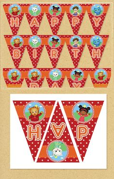 == Daniel Tiger PRINTABLE Banner == Click Add to Cart now to add this fabulously fun Daniel Tiger Banner to your party! Each panel of