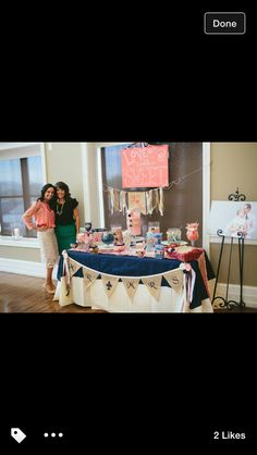 I like how they hung the banner on the table.  Would be cute for the sign in table or apple table