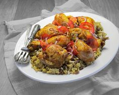 Quick and easy chicken and rice, a great dinner for a work night.