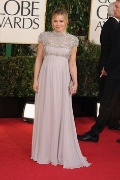 Pregnant Kristen Bell 2013 Golden Globes